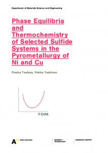 PhaseEquilibria and Thermochemistry