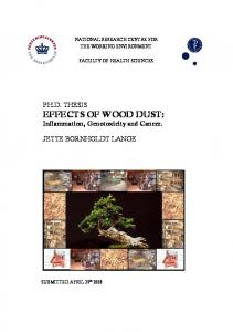 Ph.D. thesis: Effects of wood dust: Inflammation, genotoxicity and ...