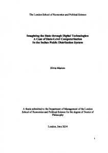 PhD Thesis Silvia Masiero - LSE Theses Online