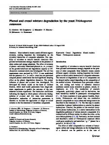 Phenol and cresol mixture degradation by the yeast ... - Springer Link