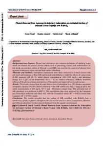 Phenol Removal from Aqueous Solutions by Adsorption on Activated ...