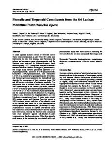 Phenolic and Terpenoid Constituents from the Sri Lankan Medicinal ...