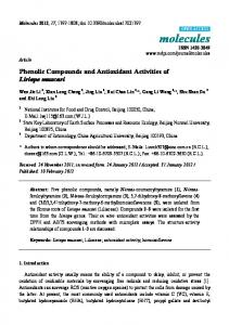 Phenolic Compounds and Antioxidant Activities of Liriope ... - CiteSeerX