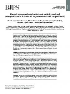 Phenolic compounds and antioxidant, antimicrobial and ... - SciELO