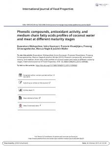 Phenolic compounds, antioxidant activity, and ...