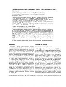Phenolic Compounds with Antioxidant Activity from ... - Semantic Scholar