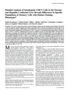 Phenotypes Memory Cells with Distinct Homing Reveals Differences ...