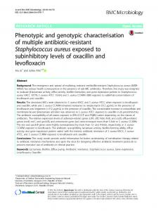 Phenotypic and genotypic characterisation of ... - Semantic Scholar