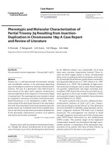Phenotypic and Molecular Characterization of Partial ...