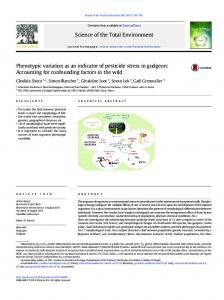 Phenotypic variation as an indicator of pesticide stress in ... - CiteSeerX