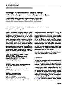 Phenotypic variations between affected siblings with ataxia ...