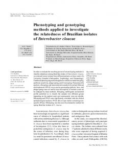 Phenotyping and genotyping methods applied to ... - Lume UFRGS