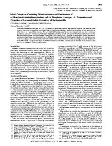 Phenylenebis( methylphenylarsine) - ACS Publications - American ...