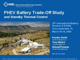 PHEV Battery Trade-Off Study and Standby Thermal Control - NREL