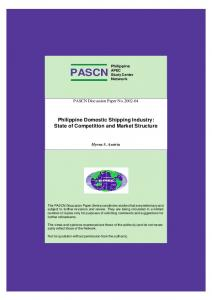 Philippine Domestic Shipping Industry: State of ... - CiteSeerX