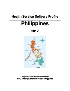 Philippines health service delivery profile - WHO Western Pacific ...