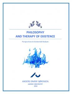 Philosophy and therapy of existence - Aarhus Universitet