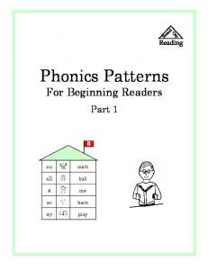 Phonics Patterns - Sound City Reading