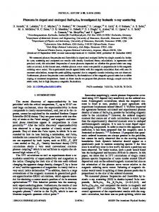 Phonons in doped and undoped BaFe2As2 ... - APS Link Manager