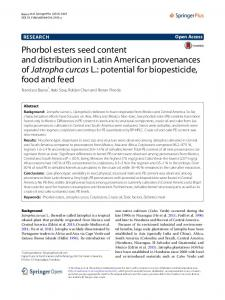 Phorbol esters seed content and distribution in Latin American ...