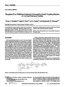 Phosphane-Free Palladium-Catalyzed Carbonylative Suzuki Coupling ...