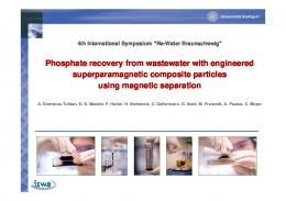Phosphate recovery from wastewater with engineered ...