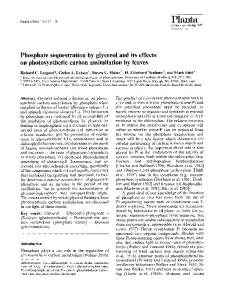 Phosphate sequestration by glycerol and its effects on ... - Springer Link