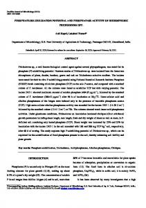 PHOSPHATE SOLUBILIZATION POTENTIAL AND ... - SciELO