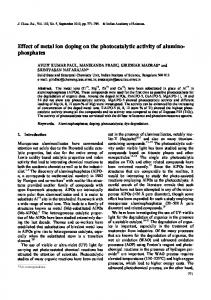 phosphates - Indian Academy of Sciences