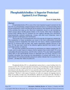 Phosphatidylcholine: A Superior Protectant