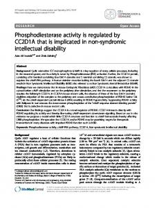 Phosphodiesterase activity is regulated by CC2D1A that is ... - CiteSeerX