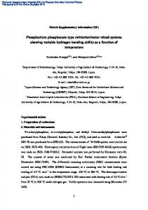 Phosphonium phosphonate-type zwitterion/water mixed systems ...