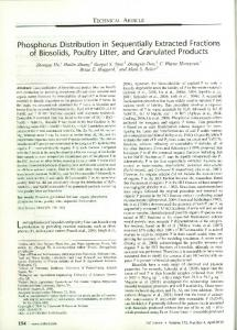 Phosphorus Distribution in Sequentially Extracted ... - PubAg - USDA