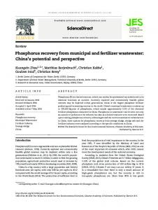 Phosphorus recovery from municipal and fertilizer wastewater