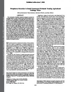 Phosphorus Retention in Small Constructed Wetlands Treating ...