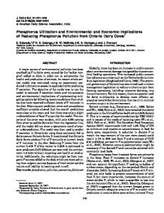Phosphorus Utilization and Environmental and Economic Implications ...