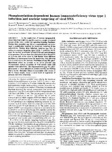 Phosphorylation-dependent human immunodeficiency virus ... - NCBI