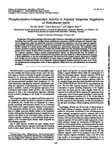 Phosphorylation-Independent Activity of Atypical Response ...