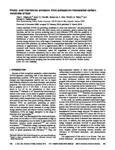Photo- and thermionic emission from potassium-intercalated carbon