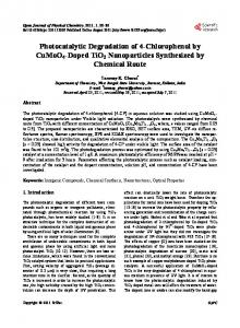 Photocatalytic Degradation of 4-chlorophenol by CuMoO4-doped TiO2 ...