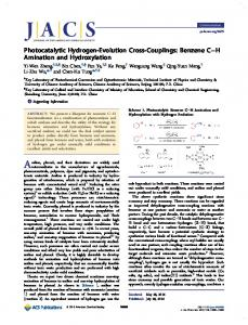 Photocatalytic Hydrogen-Evolution Cross ... - ACS Publications