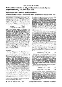 Photocatalytic Production of H202 and Organic Peroxides in Aqueous ...