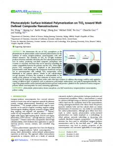 Photocatalytic Surface-Initiated Polymerization on ... - ACS Publications