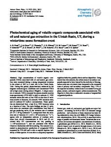 Photochemical aging of volatile organic compounds associated ... - Core