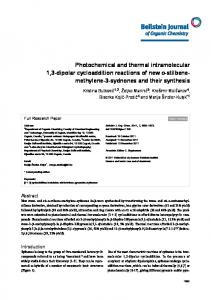 Photochemical and thermal intramolecular 1,3