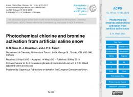 Photochemical chlorine and bromine activation from artificial ... - CORE