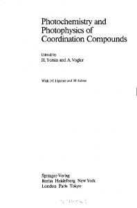 Photochemistry and Photophysics of Coordination Compounds - Core