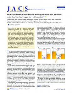 Photoconductance from Exciton Binding in ... - ACS Publications