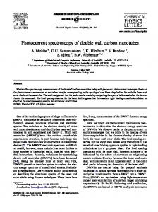 Photocurrent spectroscopy of double wall carbon nanotubes