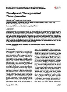 Photodynamic Therapy/Assisted Photorejuvenation - Scientific ...
